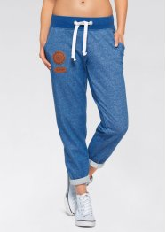 Jogginghose, bpc bonprix collection, azurblau meliert