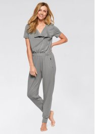 Kurzarm-Overall, bpc bonprix collection, neutralgrau