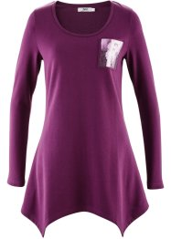 Zipfelshirt mit Paillettentasche, bpc bonprix collection, veilchenlila