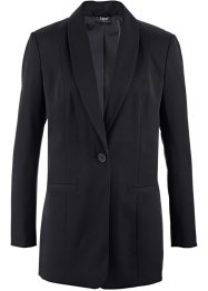 Long-Blazer, bpc bonprix collection, schwarz