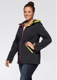 Softshelljacke mit Kapuze, bpc bonprix collection, schwarz