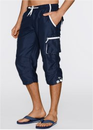 3/4 Hose Regular Fit, bpc bonprix collection, dunkelblau