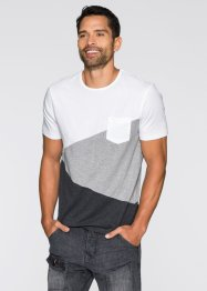 T-Shirt Slim Fit, RAINBOW, weiß/grau meliert