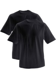 Herren T-Shirt mit Rundhals-Ausschnitt (2er-Pack), bpc bonprix collection