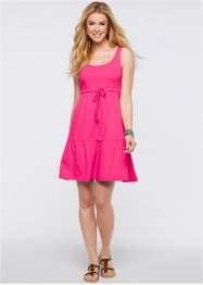 Jersey-Kleid mit Bindeband, bpc bonprix collection, dunkelpink