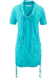 Halbarm-Longshirt mit Crash-Effekt, bpc bonprix collection, aqua