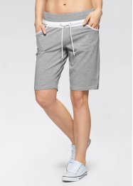 Sweat-Shorts, bpc bonprix collection, hellgrau meliert