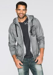 Sweatjacke Slim Fit, RAINBOW, grau