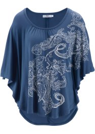 Fledermausshirt, bpc bonprix collection, indigo bedruckt