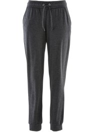 Heavy-Jersey Joggpant, bpc bonprix collection, anthrazit meliert