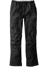 Cargo-Schlupfhose Loose Fit Straight, bpc bonprix collection, schwarz
