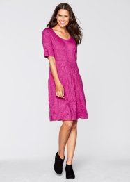 Crinkle-Kleid, bpc bonprix collection, fuchsia