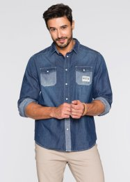 Jeanshemd Regular Fit, John Baner JEANSWEAR, blau