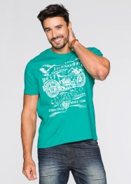 T-Shirt mit Druck Regular Fit, John Baner JEANSWEAR, smaragd