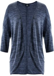 Jersey-Shirtjacke, bpc bonprix collection, indigo meliert