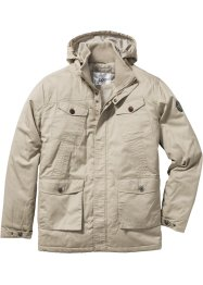 Leicht wattierte Langjacke Regular Fit, bpc bonprix collection, sand