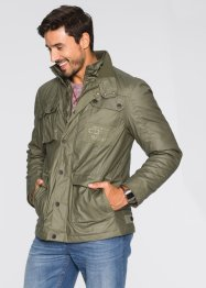 Beschichtete Fieldjacke Regular Fit, bpc bonprix collection, dunkeloliv