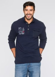 Troyerpullover im Regular Fit, bpc bonprix collection, dunkelblau