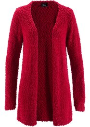 Offene Strickjacke, bpc bonprix collection, dunkelrot
