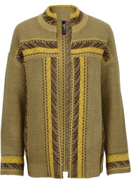 Ethno-Strickjacke, RAINBOW, khaki multi