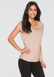 Glitzershirt, BODYFLIRT, beige