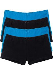 French (4er-Pack), bpc bonprix collection, schwarz/capriblau