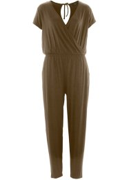 Knöchellanger Jumpsuit, bpc bonprix collection, khakigrün