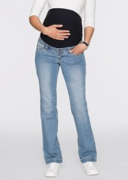 Umstandsjeans mit Aufschlag, gerades Bein, bpc bonprix collection, medium blue bleached
