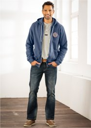 Sweatjacke mit Rückenprint Regular Fit, John Baner JEANSWEAR, indigo