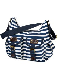 "Tasche ""Juliane"", bpc bonprix collection, dunkelblau/weiss gestreift"
