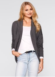 Sweatcardigan, bpc bonprix collection, anthrazit meliert