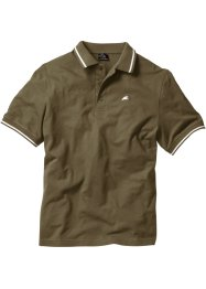 Poloshirt, Regular Fit, bpc bonprix collection, dunkeloliv