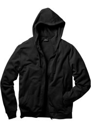 Sweatjacke mit Kapuze, Regular Fit, bpc bonprix collection, schwarz