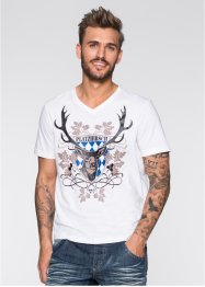 T-Shirt Slim Fit, RAINBOW, grau meliert
