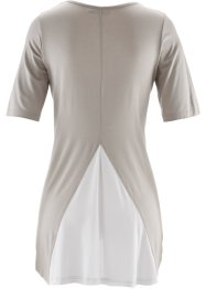 2-in-1-Halbarmshirt, bpc bonprix collection, naturstein