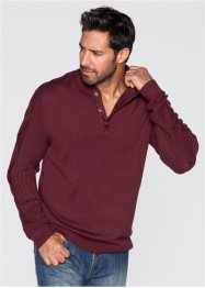 Pullover Regular Fit, John Baner JEANSWEAR, bordeaux
