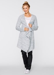 Long-Strickjacke, bpc bonprix collection, silbergrau