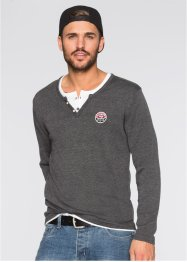 Pullover Slim Fit, RAINBOW, anthrazit meliert