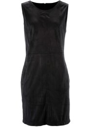 Velourslederimitat-Kleid, bpc bonprix collection, schwarz