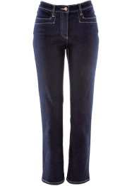 Figurformende knöchellange Stretch-Jeans, bpc bonprix collection, dark denim