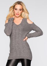 Strickpullover mit Cut-Outs, BODYFLIRT boutique, schwarz