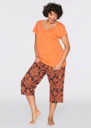 Capri Pyjama, bpc bonprix collection, orange/schwarz