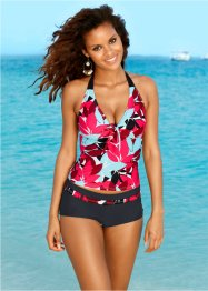 Tankini (2-tlg. Set), bpc bonprix collection, schwarz/türkis/rot