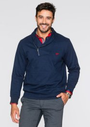 Sweatshirt mit Schalkragen Regular Fit, bpc selection, dunkelblau