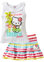 Top + Rock (2-tlg. Set), Hello Kitty, weiß gestreift Hello Kitty