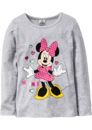 """MINNIE"" Langarmshirt, Minnie Mouse, hellgrau meliert ""MINNIE"""