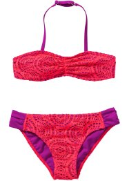 Bikini Mädchen (2-tlg. Set), bpc bonprix collection, pink/lila