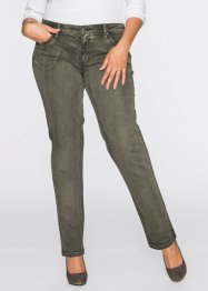 Stretch-Jeans Straight Fit, John Baner JEANSWEAR, oliv
