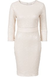 Paillettenkleid, BODYFLIRT boutique, creme