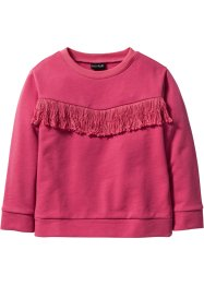 Sweatshirt mit Fransen, bpc bonprix collection, mediumpink